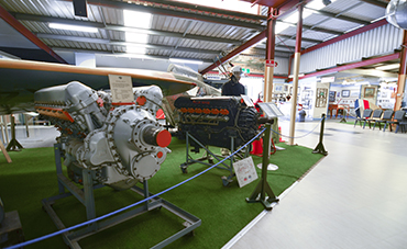 Aviation Heritage Museum's engine collection