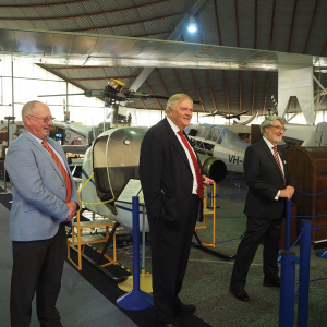 Governor flies in to Aviation Heritage Museum